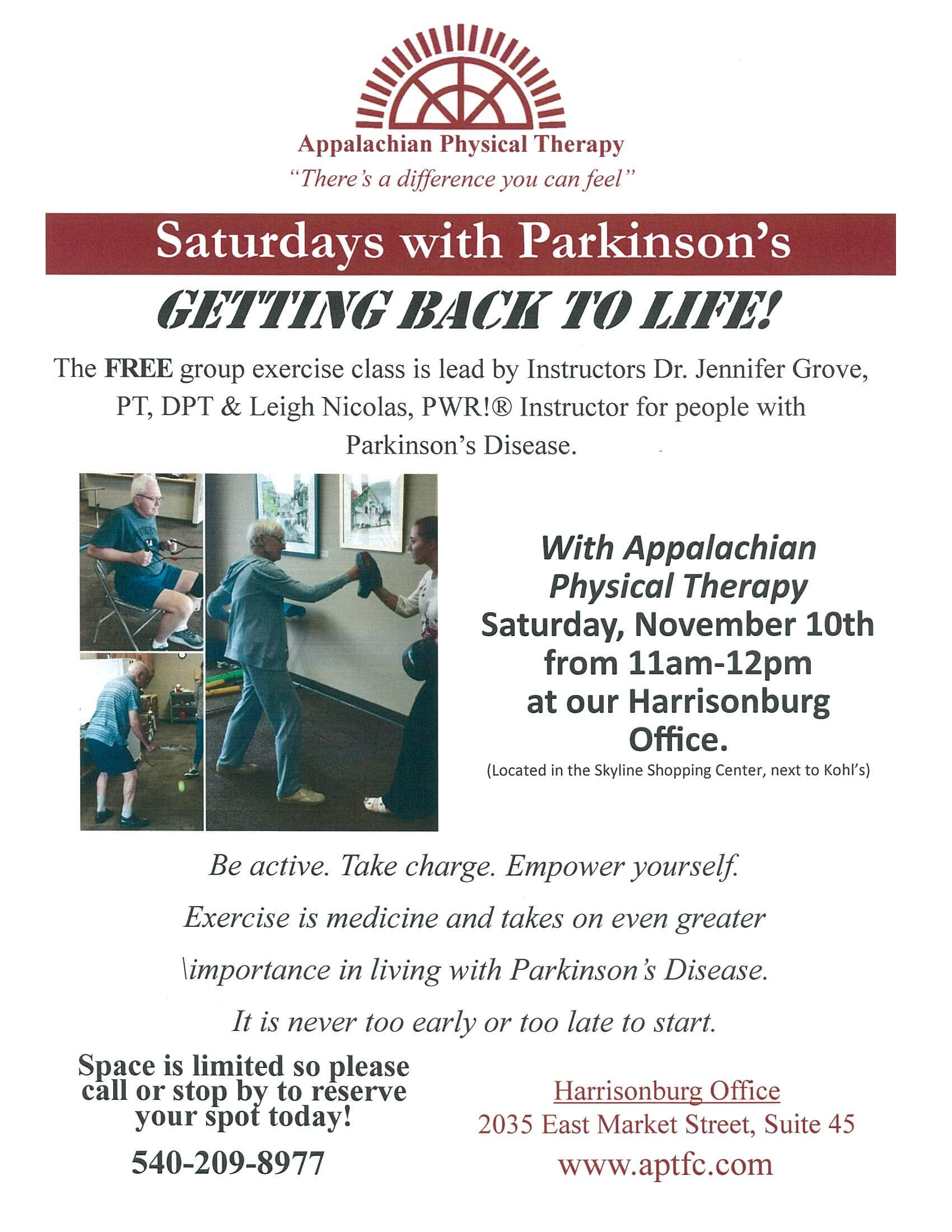 Saturdays With Parkinson's