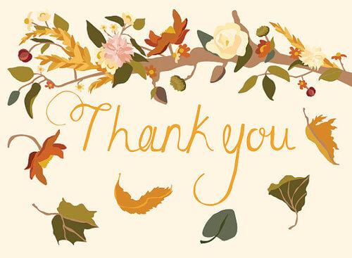 Thank You - Fall